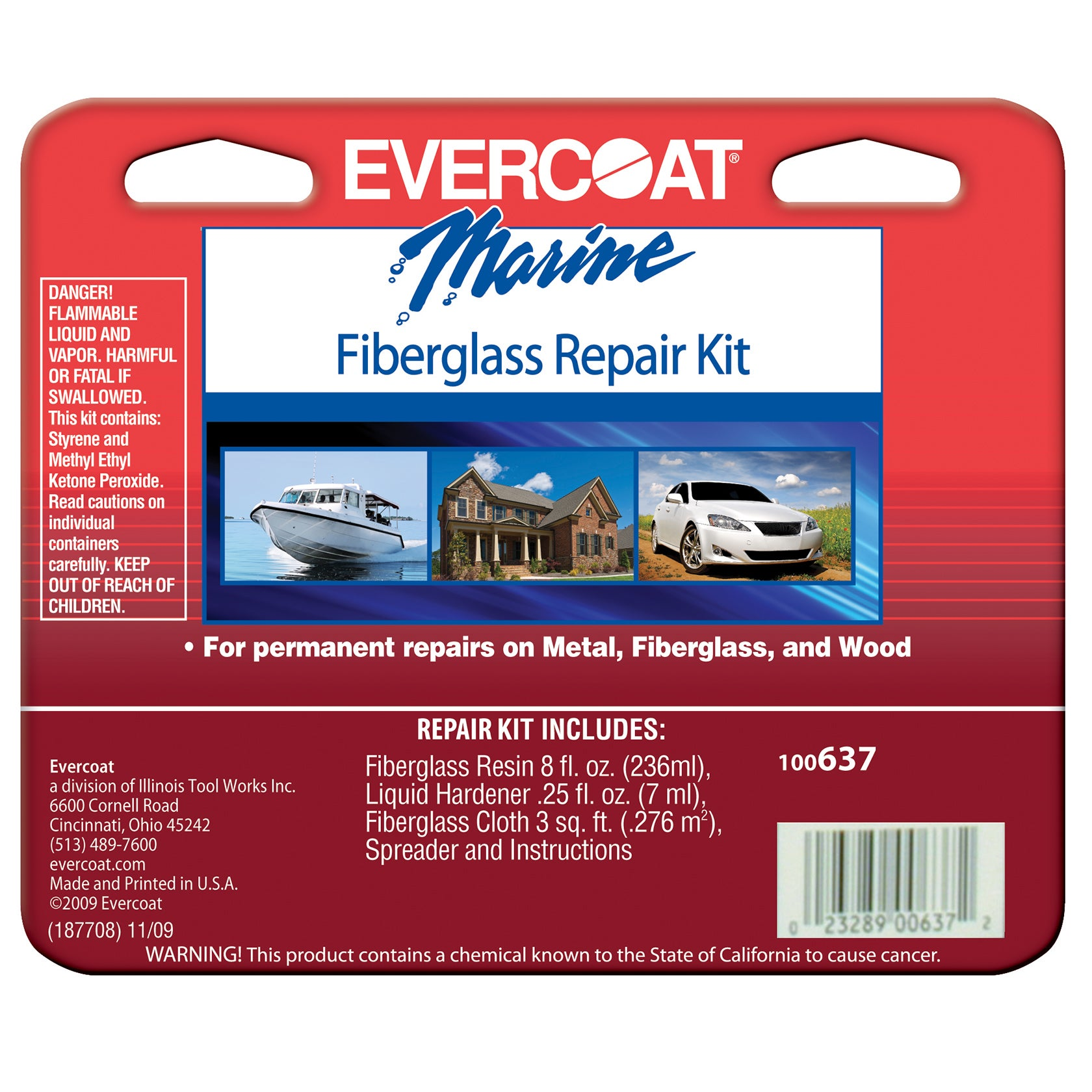 Evercoat 100637 8 Oz Fiberglass Repair Kit (Car care/clea...