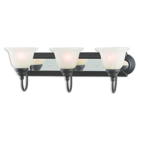 Elk Lighting Belmont: Shop Livex Lighting Bronze And Chrome 3-light Bath Vanity