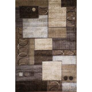 Christopher Knight Home Weslyn Dahlia Brown/Gold Geometric Rug (5' x 8')