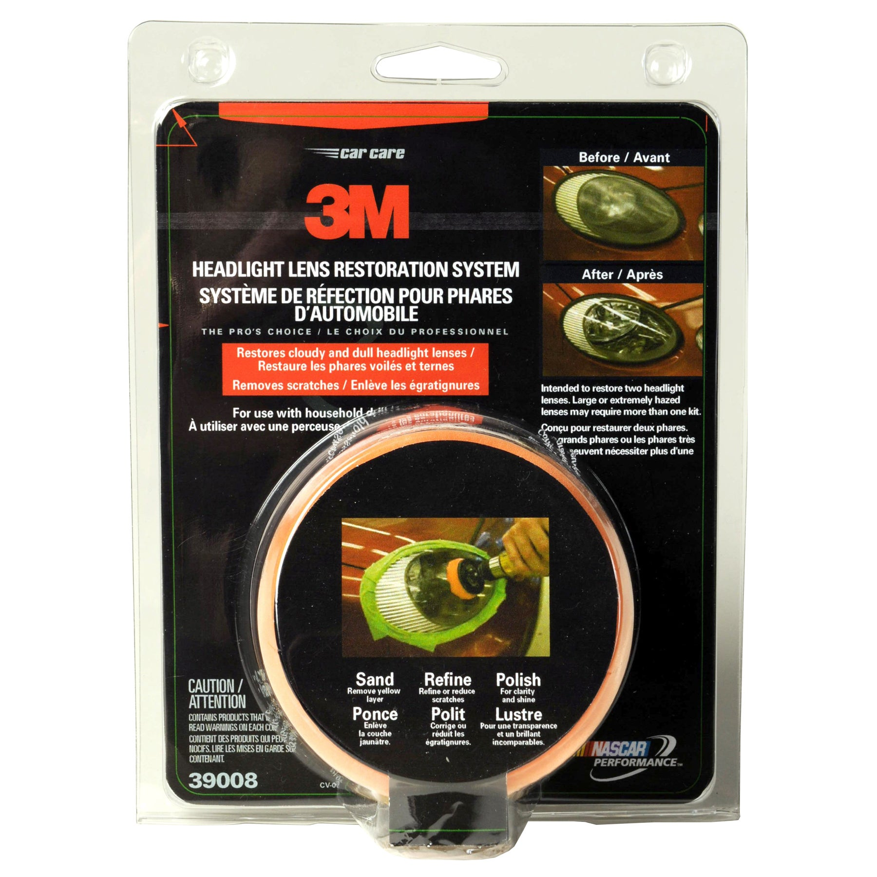 3M 39008 Headlight Lens Restoration System (Car care/clea...