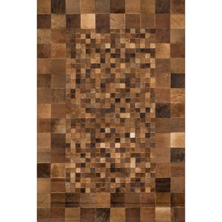 Hand-stitched Duke Saddle Cowhide Rug (7'6 x 9'6)