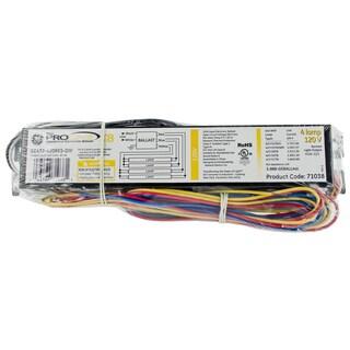 GE Lighting 93885 4-Lamp T8 120 Volt Residential Electronic Ballast
