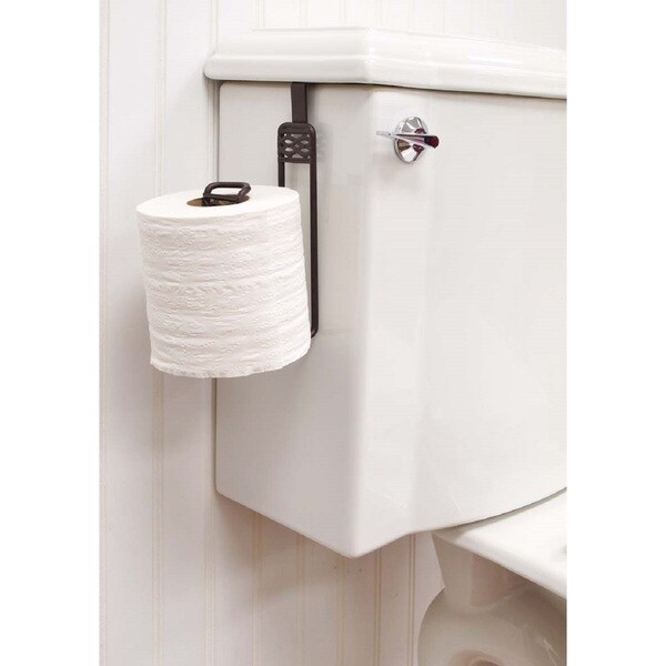 Simplify Over-the-tank Bronze Finished Toilet Roll Holder - Free ...