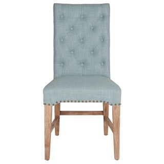 Gray Manor Benjamin Blue Upholstered Dining Chair (Set of 2)