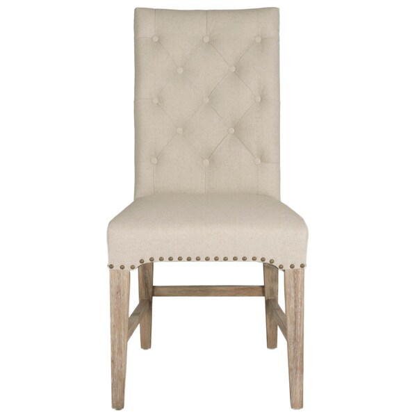 Shop Gray Manor Benjamin Natural Linen Dining Chair Set