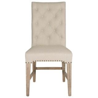 Gray Manor Benjamin Natural Linen Dining Chair (Set of 2)