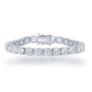 La Preciosa White Sterling Silver Cubic Zirconia Tennis Bracelet