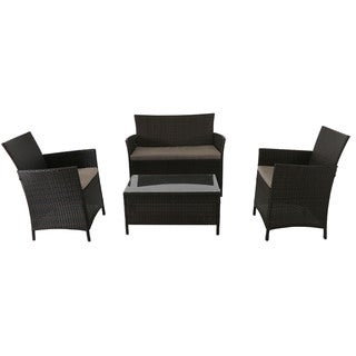 Cambridge Exton Black Wicker 4-piece Seating Set