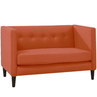 Skyline Furniture Coral Fabric and Wood Loveseat