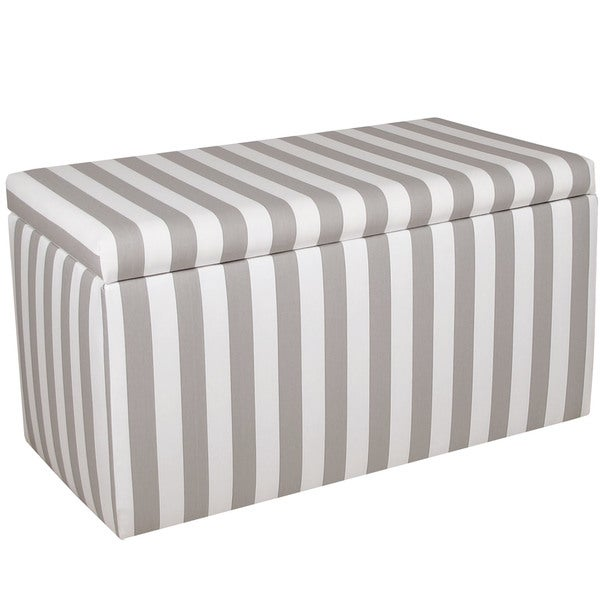Exceptionnel Skyline Furniture Grey/White Striped Storage Bench
