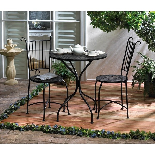 Shop Stanford 3-piece Outdoor Bistro Patio Set - Free Shipping Today -  Overstock.com - 11951197 - Shop Stanford 3-piece Outdoor Bistro Patio Set - Free Shipping Today