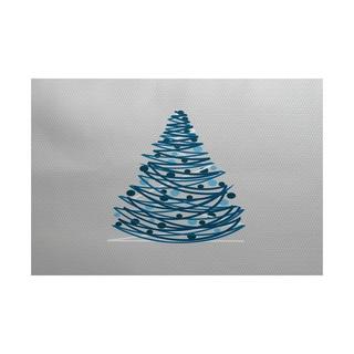 Oh Christmas Tree Geometric Print Indoor/ Outdoor Rug (3' x 5')