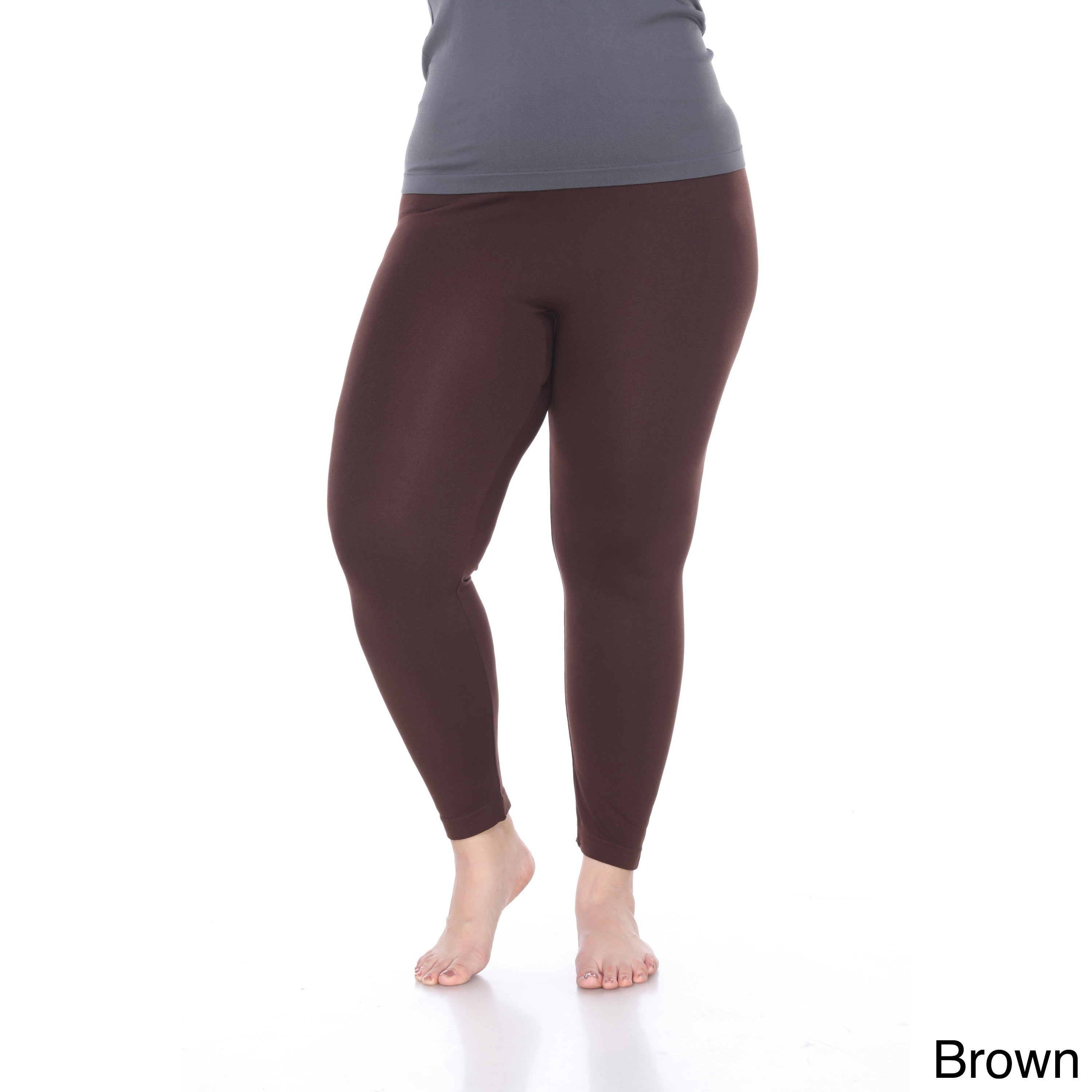 7dfa88a927bba7 Shop White Mark Women's Plus Size Super-stretch Solid Leggings - Free  Shipping On Orders Over $45 - Overstock - 11951246