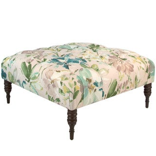 Skyline Furniture Tufted Cocktail Ottoman in Paint Palette Mist