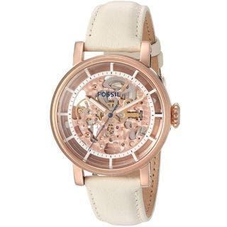 Fossil Women's ME3126 'Original Boyfriend' Automatic White Leather Watch|https://ak1.ostkcdn.com/images/products/11951277/P18837916.jpg?impolicy=medium