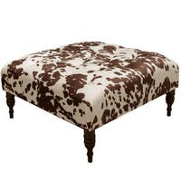 Skyline Furniture Udder Madness Milk Polyester Tufted Cocktail Ottoman