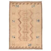 Herat Oriental Afghan Hand-woven Wool Mimana Kilim - 2'9 x 4'2