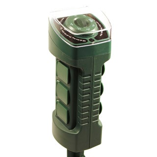 Amertac TM19DOLB 6 Outlet Outdoor Photocell Stake Timer