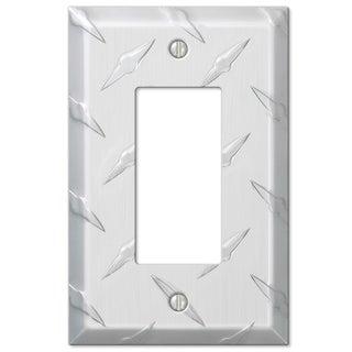 Amertac 955R 1 Rocker Diamond Stamped Aluminum Wallplate