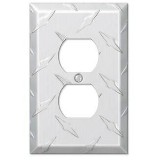 Amertac 955D 1 Duplex Diamond Stamped Aluminum Wallplate