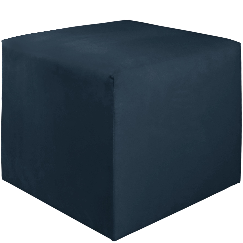 Skyline Furniture Navy Cube Ottoman (Navy), Blue, Size Sm...