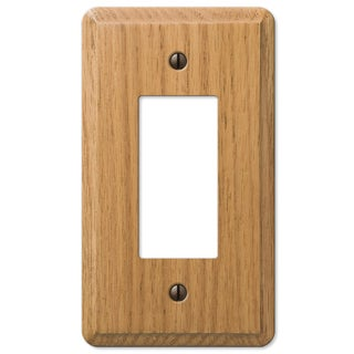 Amertac 901RL 1 Rocker Light Oak Solid Wood Wallplate