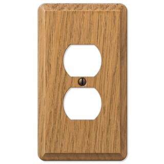 Amertac 901DL 1 Duplex Light Oak Solid Wood Wallplate