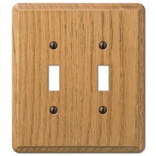 Amertac 901TTL 2 Toggle Light Oak Solid Wood Wallplate