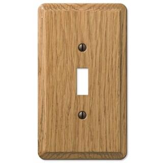 Amertac 901TL 1 Toggle Light Oak Solid Wood Wallplate