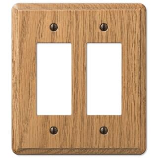 Amertac 901RRL 2 Rocker Light Oak Solid Wood Wallplate