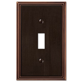 Amertac 77TDB 1 Toggle Aged Bronze Cast Metal Wallplate