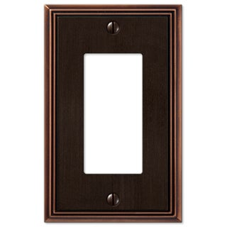 Amertac 77RDB 1 Rocker Aged Bronze Cast Metal Wallplate