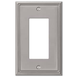Amertac 77RBN 1 Rocker Brushed Nickel Cast Metal Wallplate