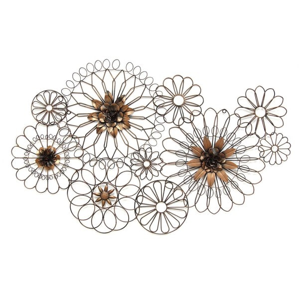 Shop Stratton Home Decor Whimsical Wire Flowers Wall Decor - Free ...