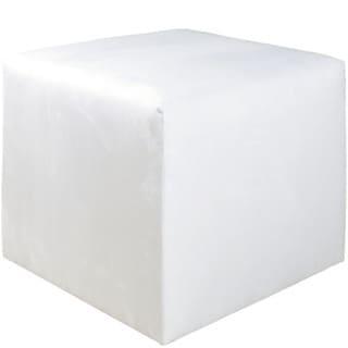 Skyline Furniture White Fabric Cube Ottoman