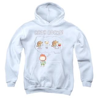 Scribblenauts/Math Rocks Youth Pull-Over Hoodie in White