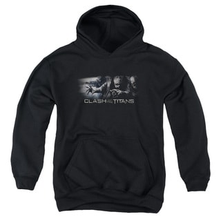 Clash Of The Titans/Witches Youth Pull-Over Hoodie in Black