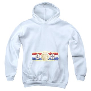 Rocky/Championship Belt(Bottom Front) Youth Pull-Over Hoodie in White