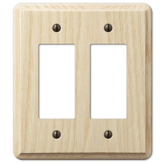 Amertac 401RR 2 Rocker Ash Wood Wallplate - Brown