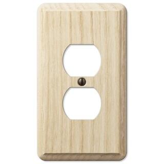 Amertac 401D 1 Duplex Ash Wood Wallplate
