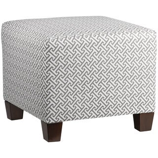 Skyline Furniture Grey Cotton, Wood Square Ottoman