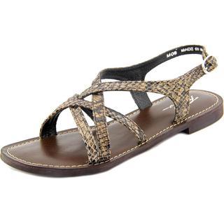 Rebels Women's Terri Black Leather Gladiator Sandals