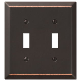 Amertac 163TTDB 2 Toggle Aged Bronze Steel Wallplate