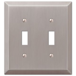 Amertac 163TTBN 2 Toggle Polished Chrome Steel Wallplate