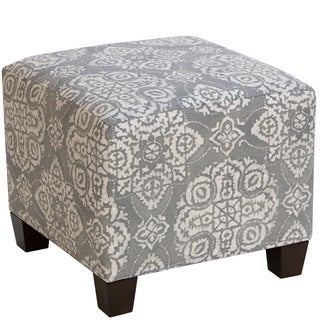 Skyline Furniture Grey/White Square Ottoman