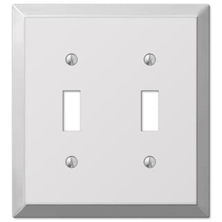 Amertac 161TT 2 Toggle Polished Chrome Traditional Steel Wallplate