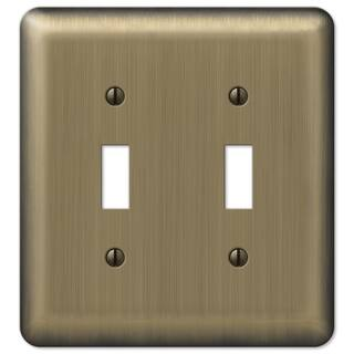 Amertac 154TT 2 Toggle Round Corner Brushed Brass Steel Wallplate|https://ak1.ostkcdn.com/images/products/11951497/P18838033.jpg?impolicy=medium