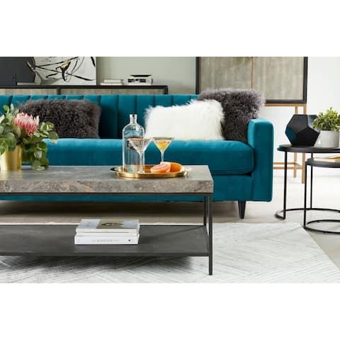 "Aurelle Home Melisa Modern Marble Coffee Table - 54"" x 30"" x 21"""