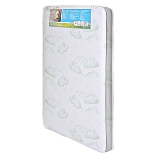 Baby Trend Nursery Center Vinyl 3-inch Firm Mattress with Square Corner
