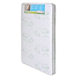 Baby Trend Nursery Center Foam and Vinyl 3-inch x 37.5-inch x 25.5-inch Square Corner Antimicrobial Hypoallergenic Mattress
